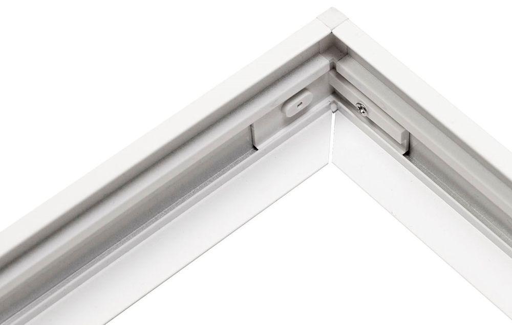 ALU Aufbau Rahmen weiss für LED Leuchte 300x1200mm weiß Aufputz ...