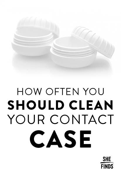 How Often You Should Clean A Contact Case Contact Case Contact Lenses Contact Lenses Case