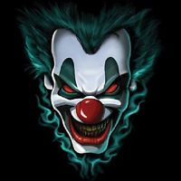 FREAK SHOW EVIL CLOWN FACE T-SHIRT ALL SIZES & COLORS (3018)