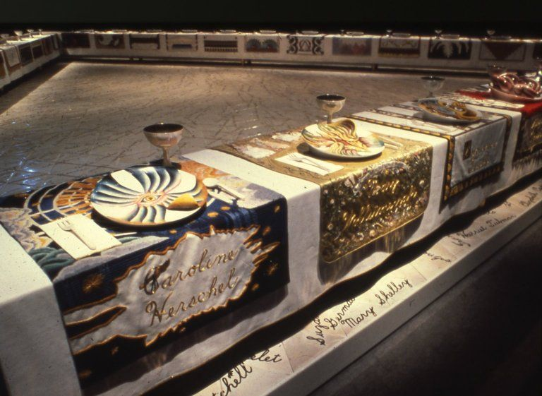 Lovely Brooklyn Museum The Dinner Party Part - 13: The Dinner Party Is An Installation Artwork By Feminist Artist Judy Chicago  Depicting Place Settings For