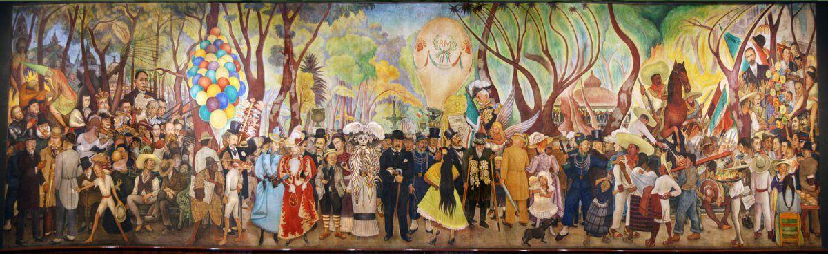 Sueno De Una Tarde Dominical En La Alameda Central Obras De Arte