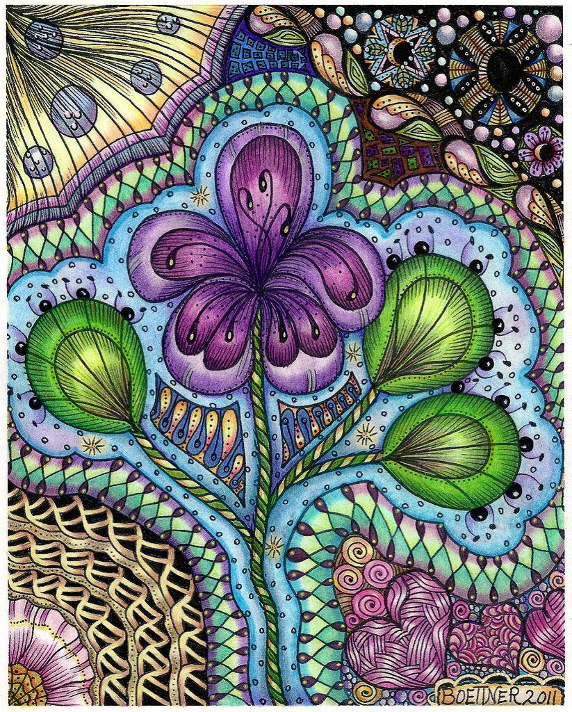 Zen doodle colour - Easy Zentangle Patterns Color C Utare Google