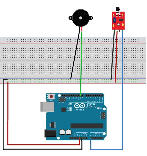 8 Fire Alarm With Buzzer جهاز انذار الحريق بستخدام حساس اللهب Fire Alarm Easy Projects Design