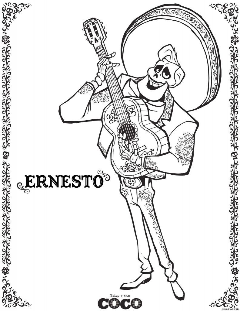 Coco coloring pages disney coloring pages pinterest disney