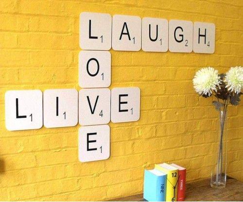 Live Laugh Love Giant Scrabble Wall Art | Home Ideas | Pinterest ...