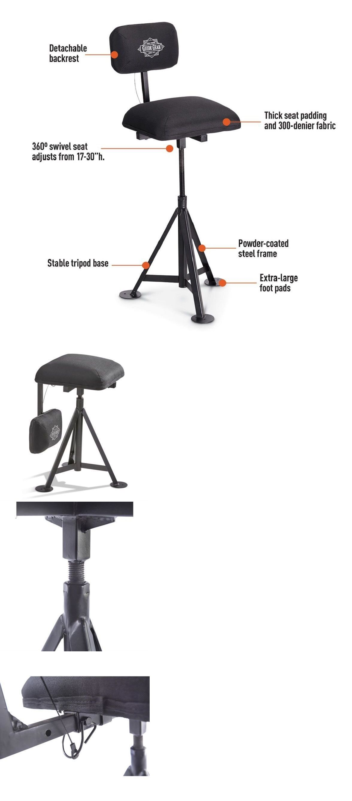 Seats and Chairs Hunters Swivel Blind Stool 360 Degree