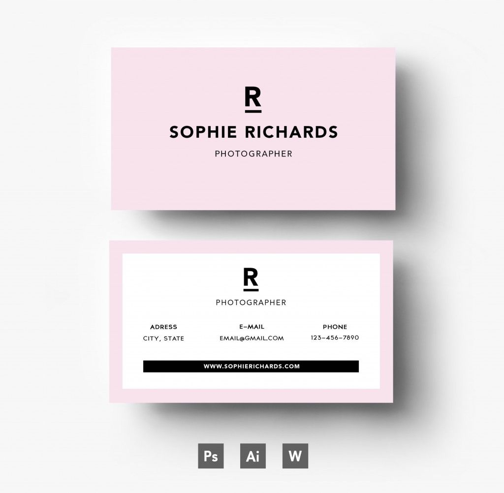 Stylish pink business card template | Business cards | Pinterest ...
