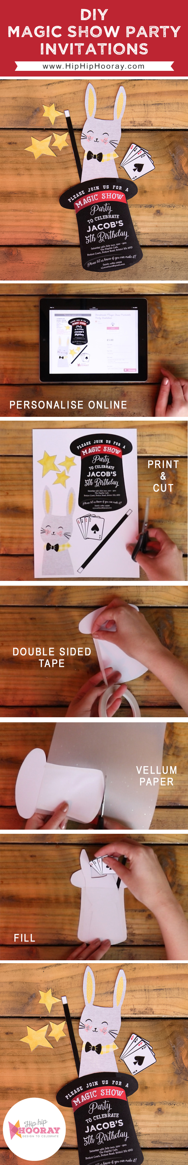 Step-By-Step Guide: Magic Show Kids Party Invitations | DIY Craft ...