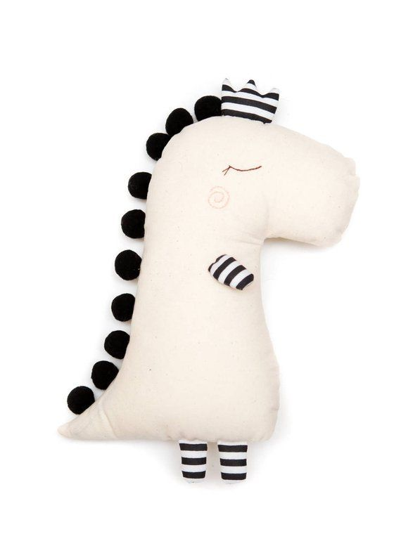 Monochrome Dino doll