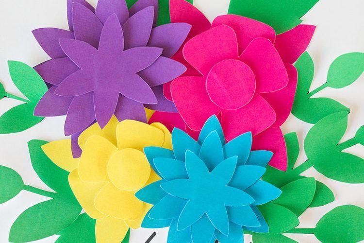Pretty Paper Flowers Free Printables Free Paper Flower