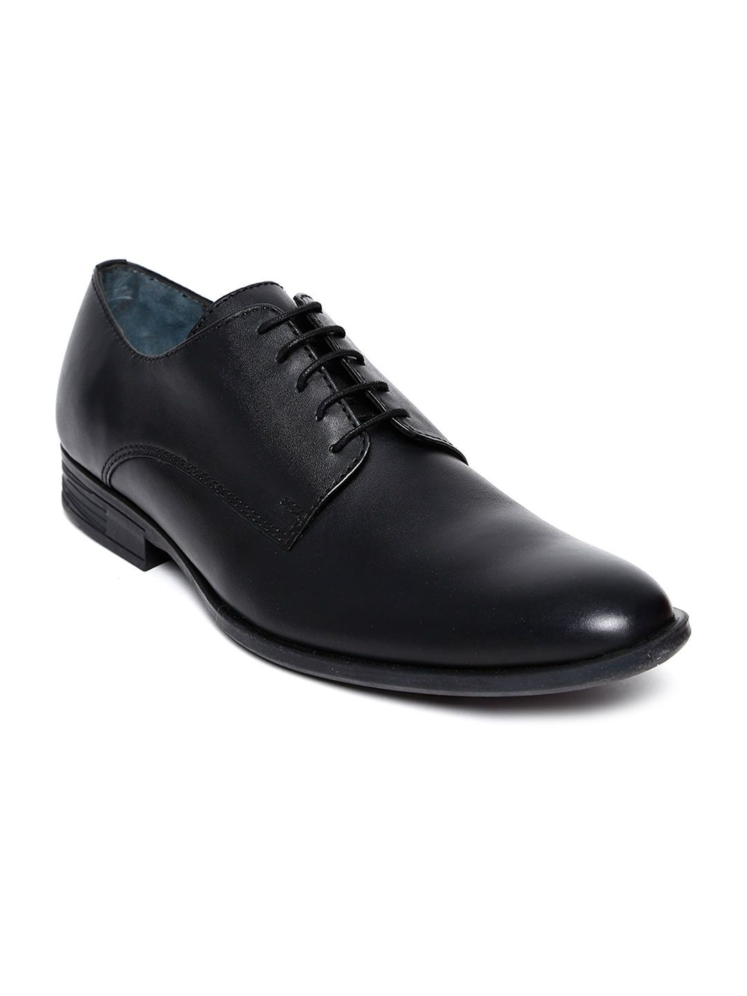 Hush Puppies By Bata Men Black Leather Formal Shoes Leather Formal Shoes Formal Shoes Hush Puppies Shoes