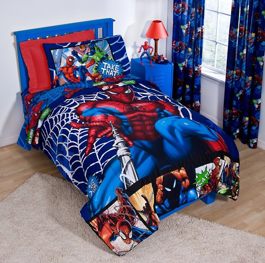 Spiderman and friends bedding - Spiderman Bedroom For Kid Home Design Hairstyle