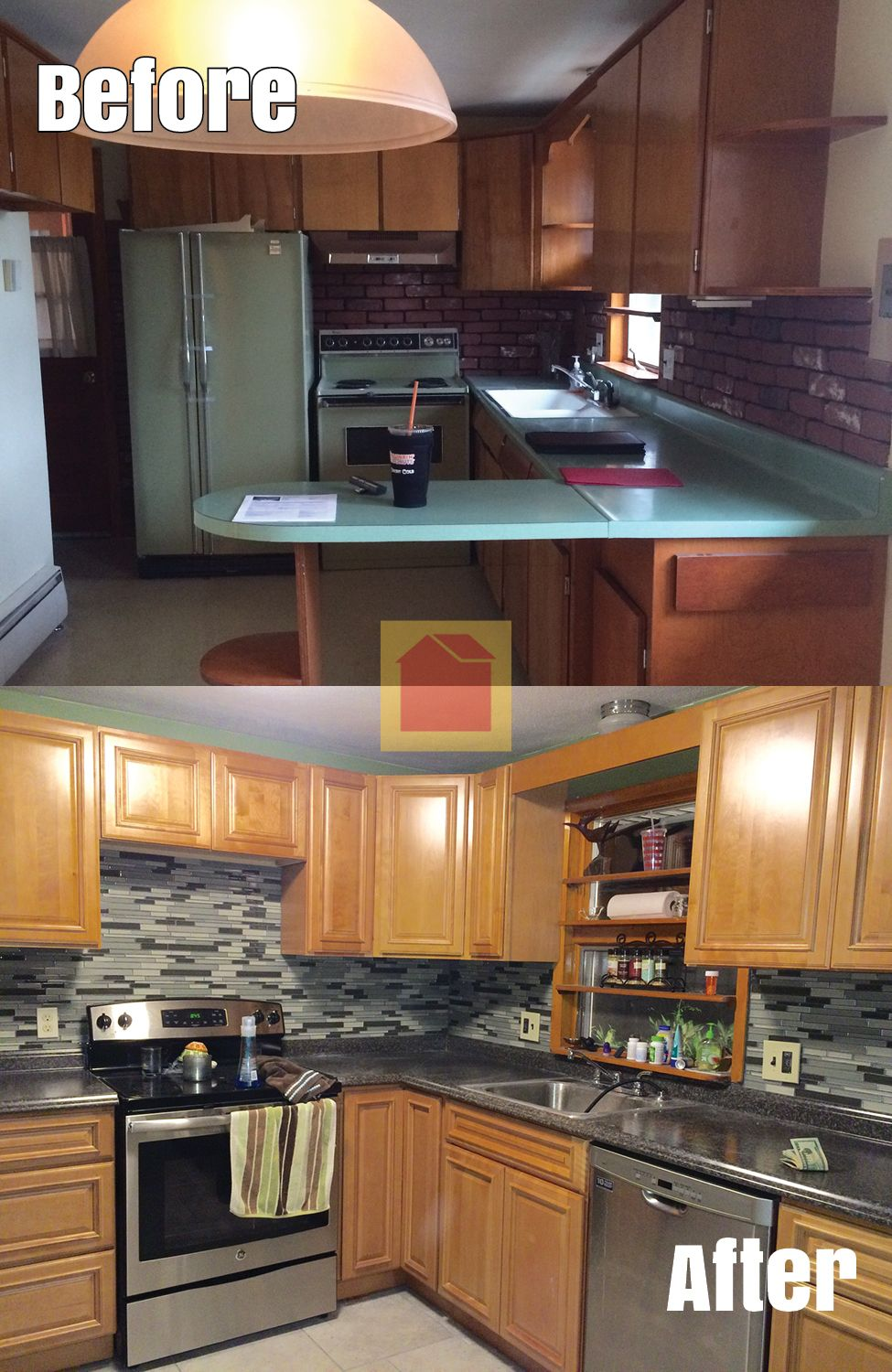 Kitchen Makeover By Karen F Chicopee Ma We Bought Cabinets