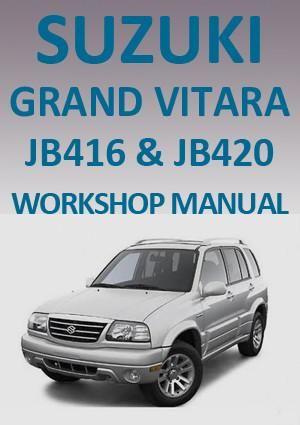 suzuki grand vitara jb 416 420 2005 2008 workshop manual suzuki rh pinterest com 2002 suzuki xl7 repair manual