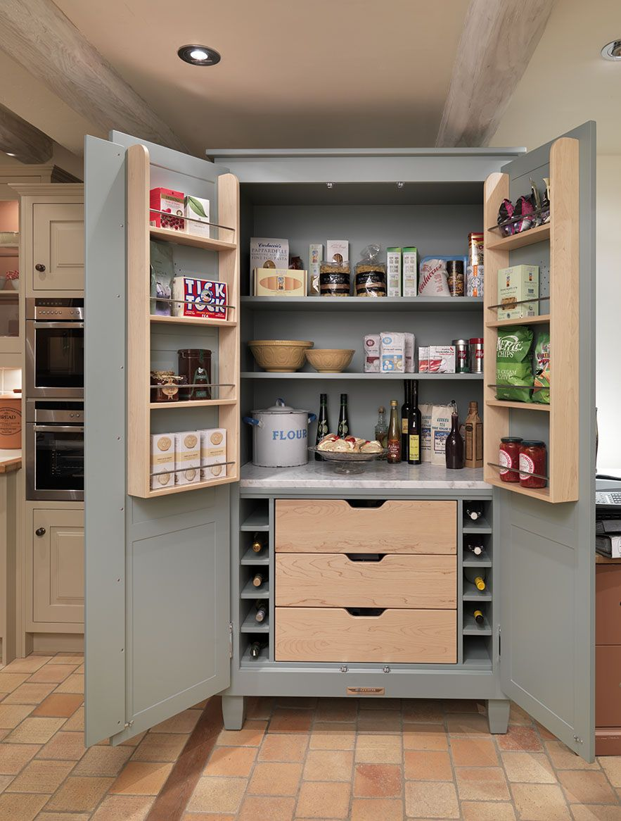Freestanding Shaker Pantry From John Lewis Of Hungerford This Beautiful Larder Has Bee Freestanding Kitchen Free Standing Kitchen Pantry Kitchen Pantry Design