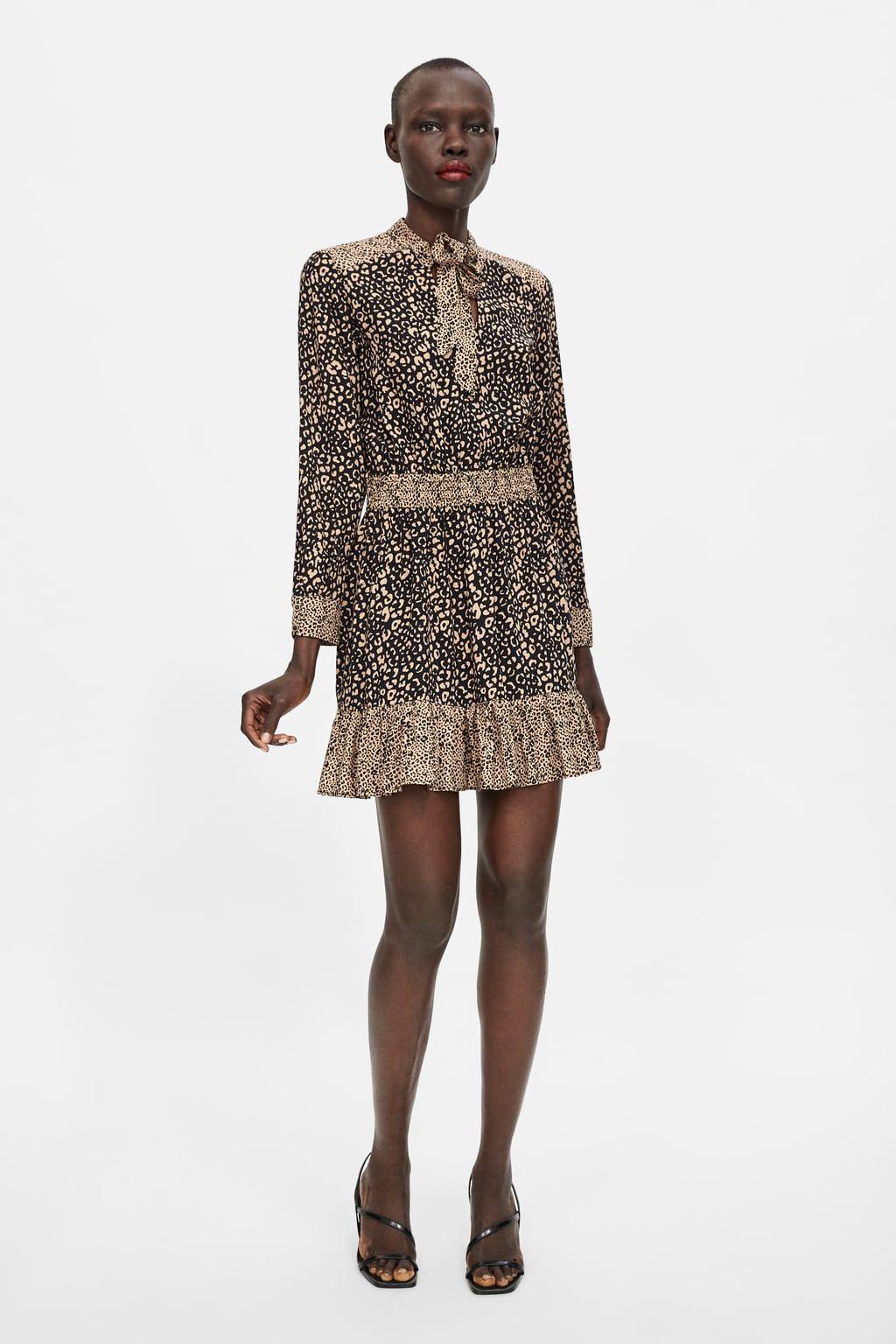 precios baratass comprar original reunirse Animal print dress | AW18 likes | Animal print dresses, Zara ...