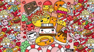 Image Result For Cute Colorful Doodle Wallpaper Cute Food