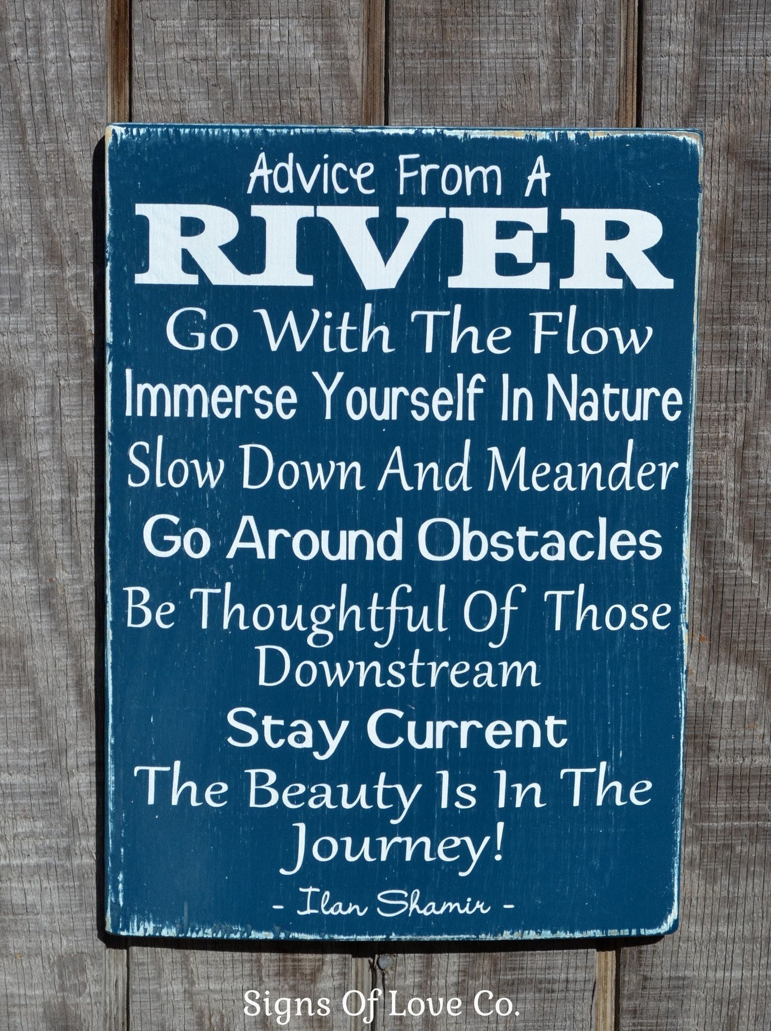 River House Decor River Signs Advice From A River Wooden Sign Quote Poem Painted Rustic Wood Plaque
