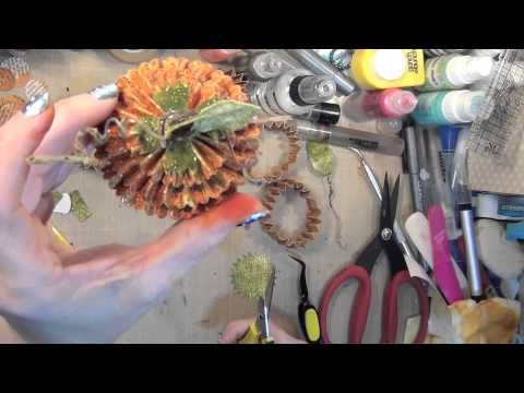 ▷ Fall Project Series #10 Rosette Floral Die -Funky Punkins and