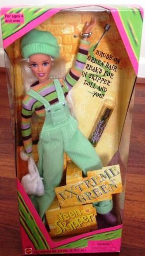 Barbie extreme green teen 5