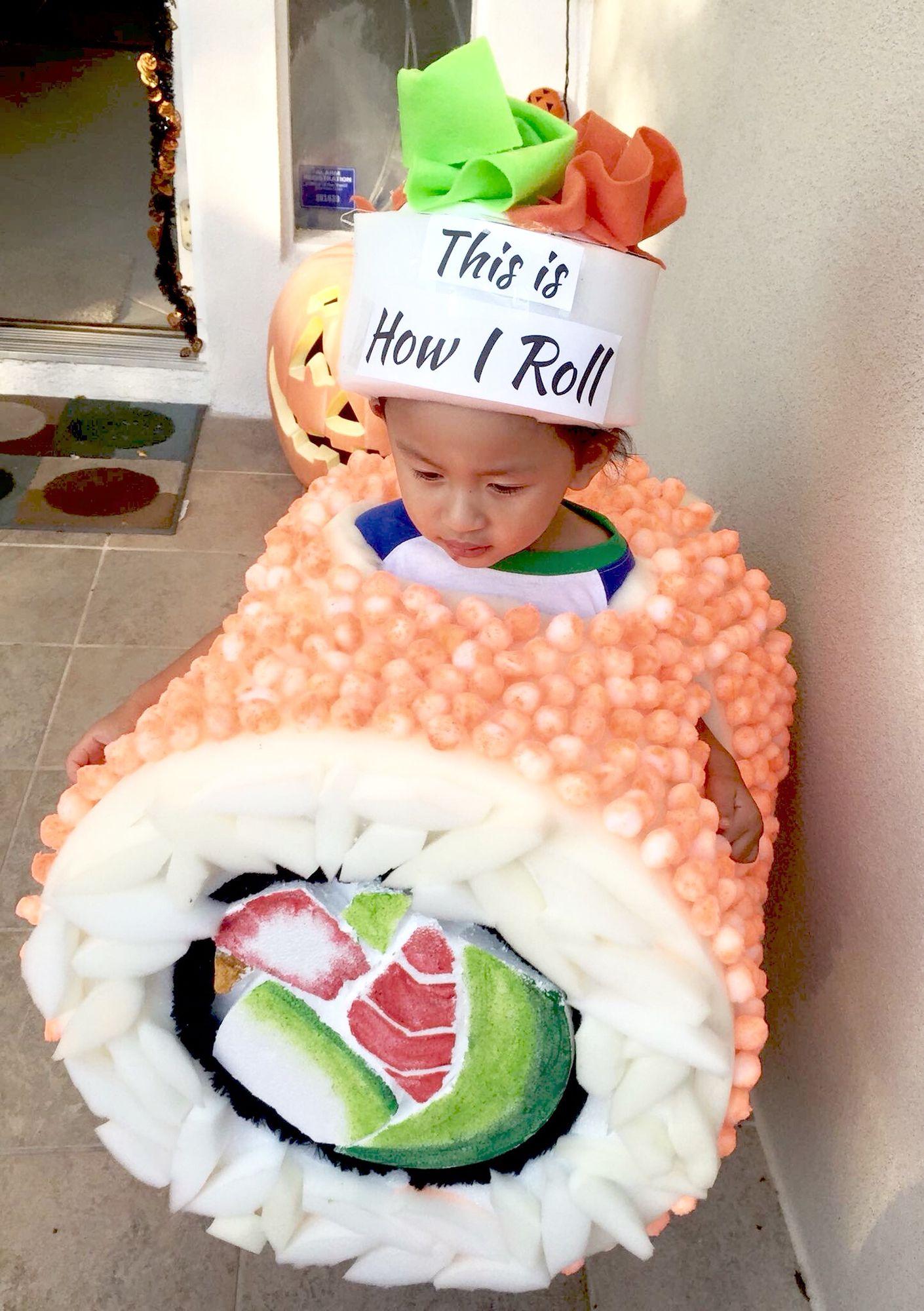 Sushi Halloween outfit, kid sushi costume, sushi roll Halloween costume  Trucco Per Halloween,