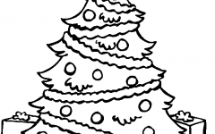 Latest Christmas Tree Printable Coloring Pages Gallery