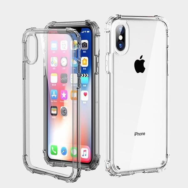 9623d30250 Luxury Shockproof Bumper Transparent Silicone Phone Case For iPhone X XS XR  XS Max 8 7 6 6S Plus Clear protection Back Cover