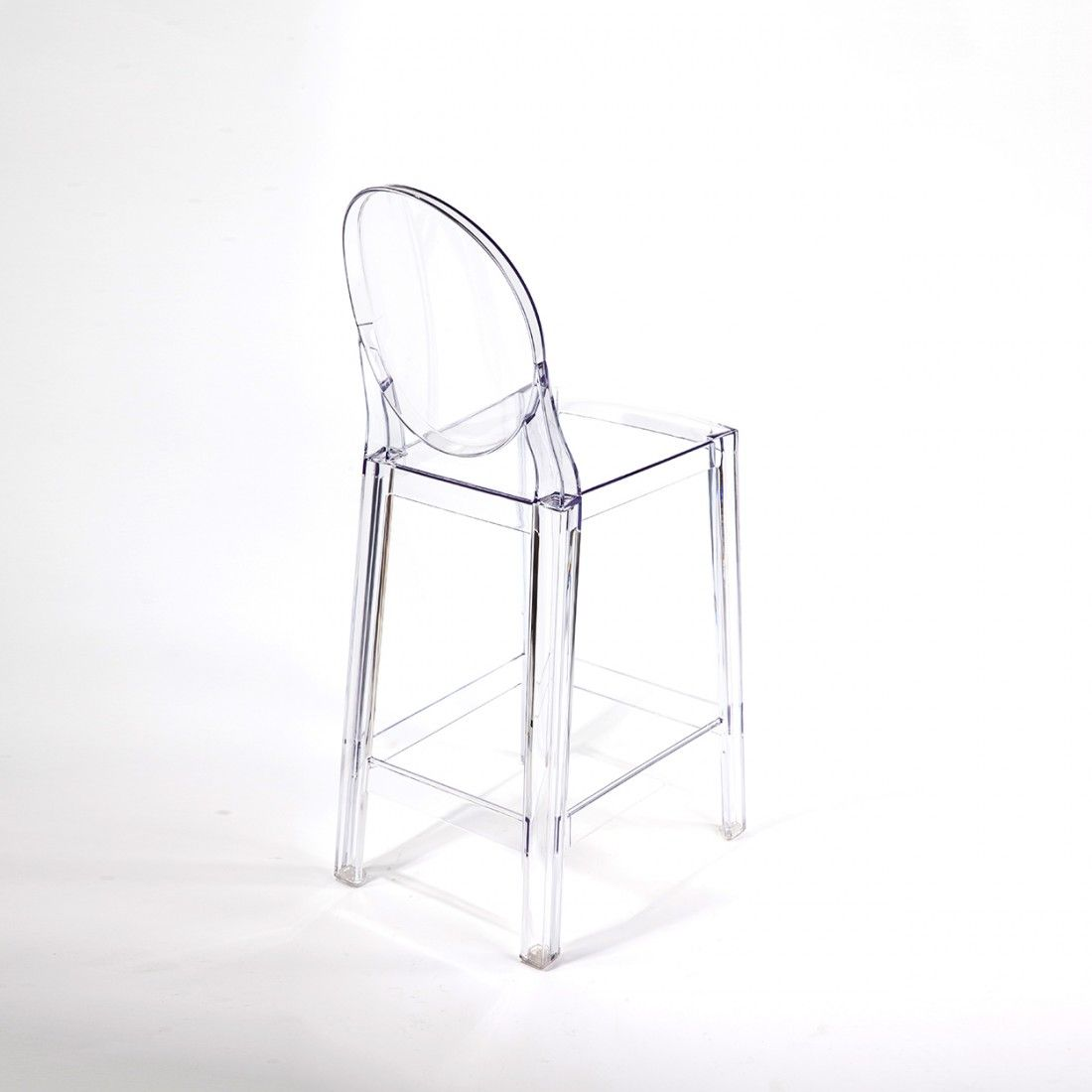 Acrylic Counter Height Stools Part - 27: Modern Ghost Bar Stool - Counter Height Inspired By Philippe Starck