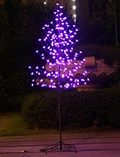 Bolylight Led Cherry Blossom Tree Cherry Blossom Tree 6ft 208l Led Decoration Lighted Tree For Bedroom Pa Lighted Centerpieces Purple Winter Weddings Led Decor
