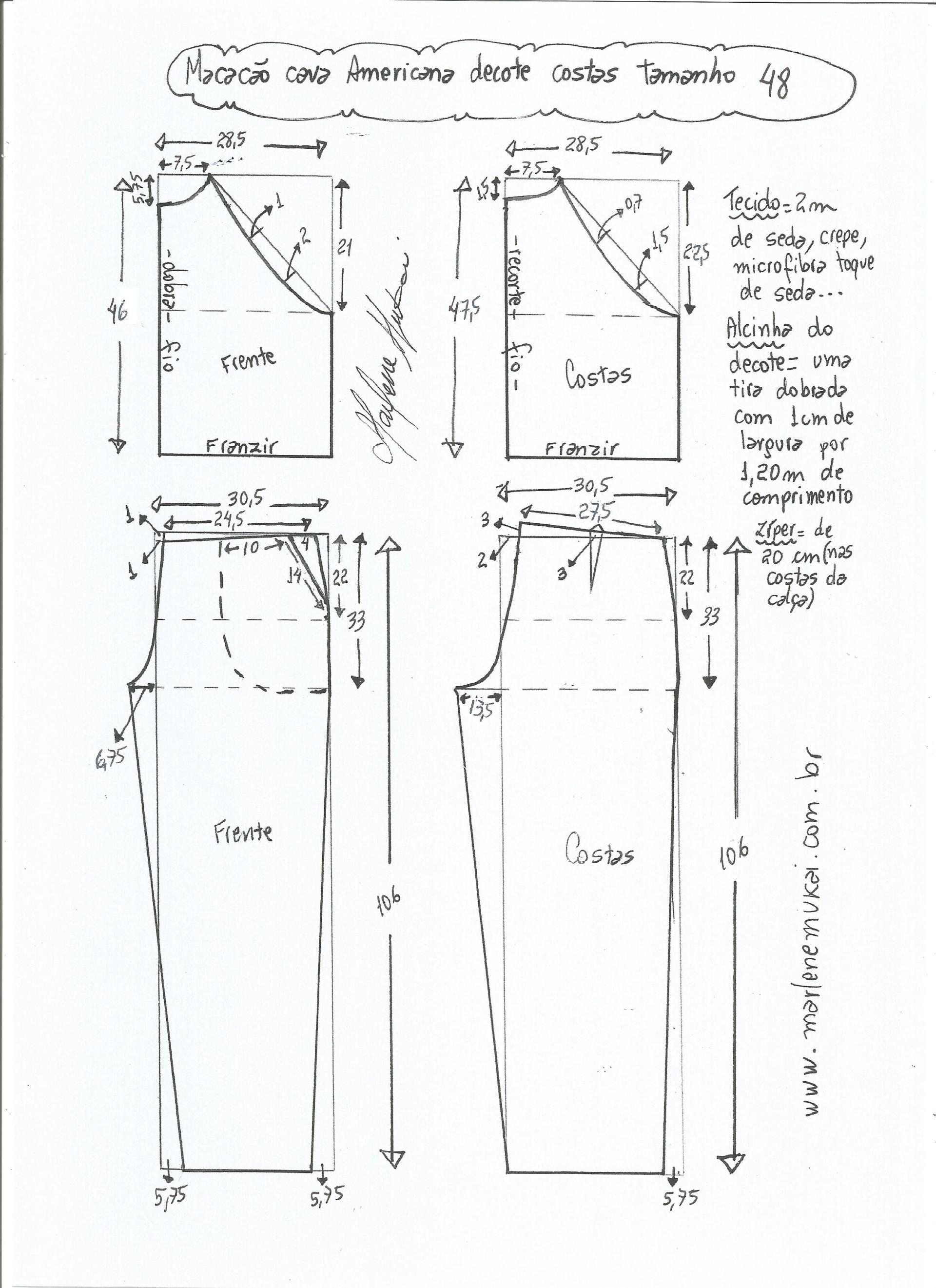 Patrón de mono con sisa americana | Patrones de costura | Pinterest ...