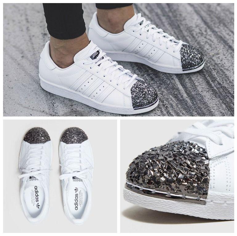 adidas superstar glitter toe