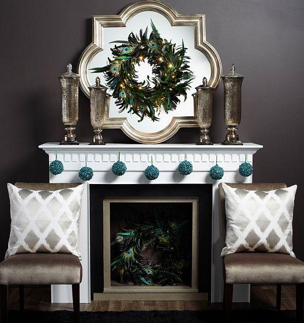 50 Christmas Mantle Decoration Ideas. Mantels DecorFireplace ...