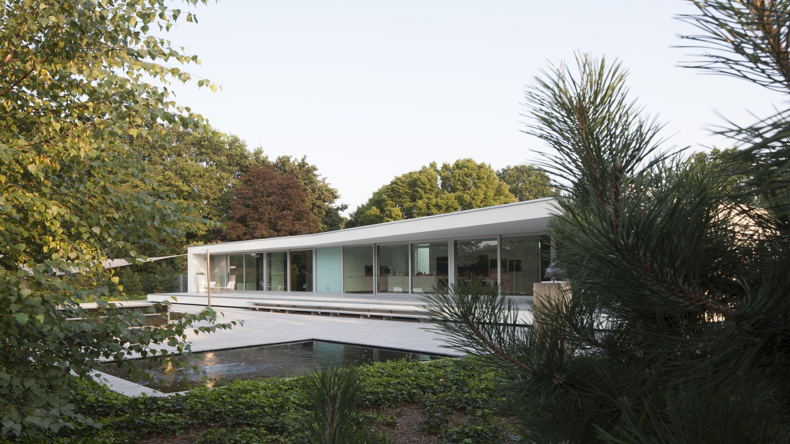 Lab32 architecten moderne eigentijdse architectuur ontwerp villa