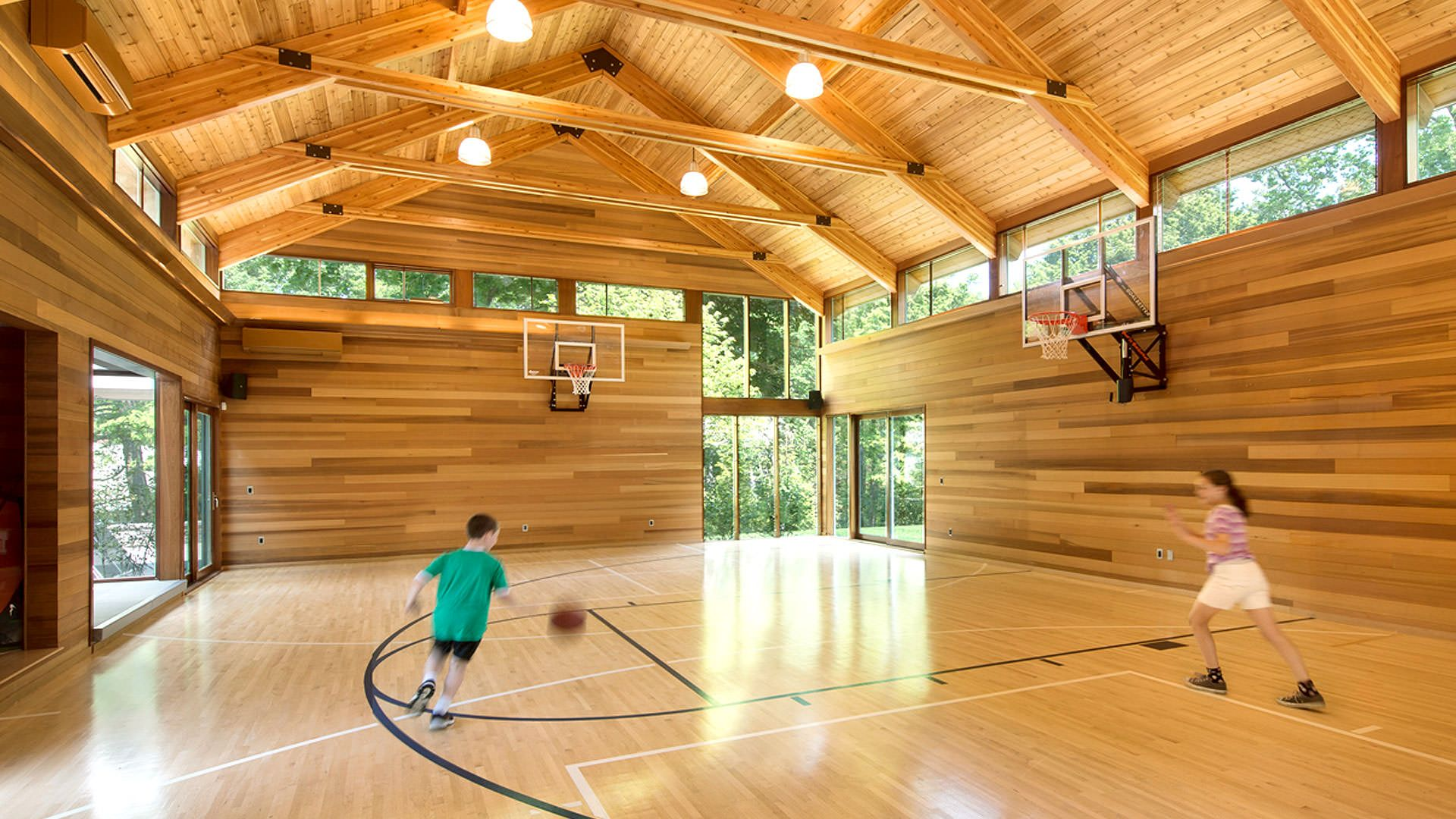 Design Architecture Grand Rapids Mi Mathison Mathison Architects Home Basketball Court Indoor Basketball Court Indoor Sports Court