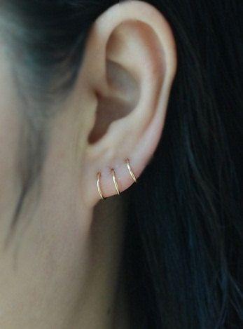 beeffde2ff102 14k GOLD FILLED Cartilage Hoop Earring,Cartilage Earring,Seamless ...