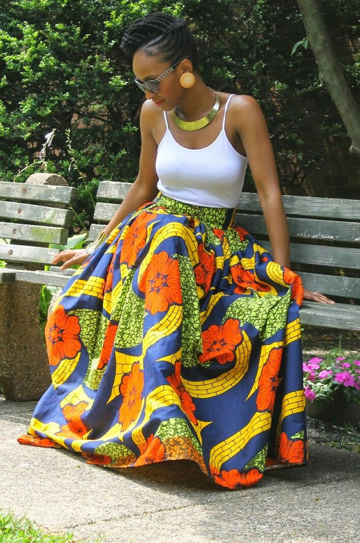 Floral Maxi Skirt Chinelo ~Latest African Fashion, African Prints, African fashion styles, African clothing, Nigerian style, Ghanaian fashion, African women dresses, African Bags, African shoes, Nigerian fashion, Ankara, Kitenge, Aso okè, Kenté, brocade. ~DKK