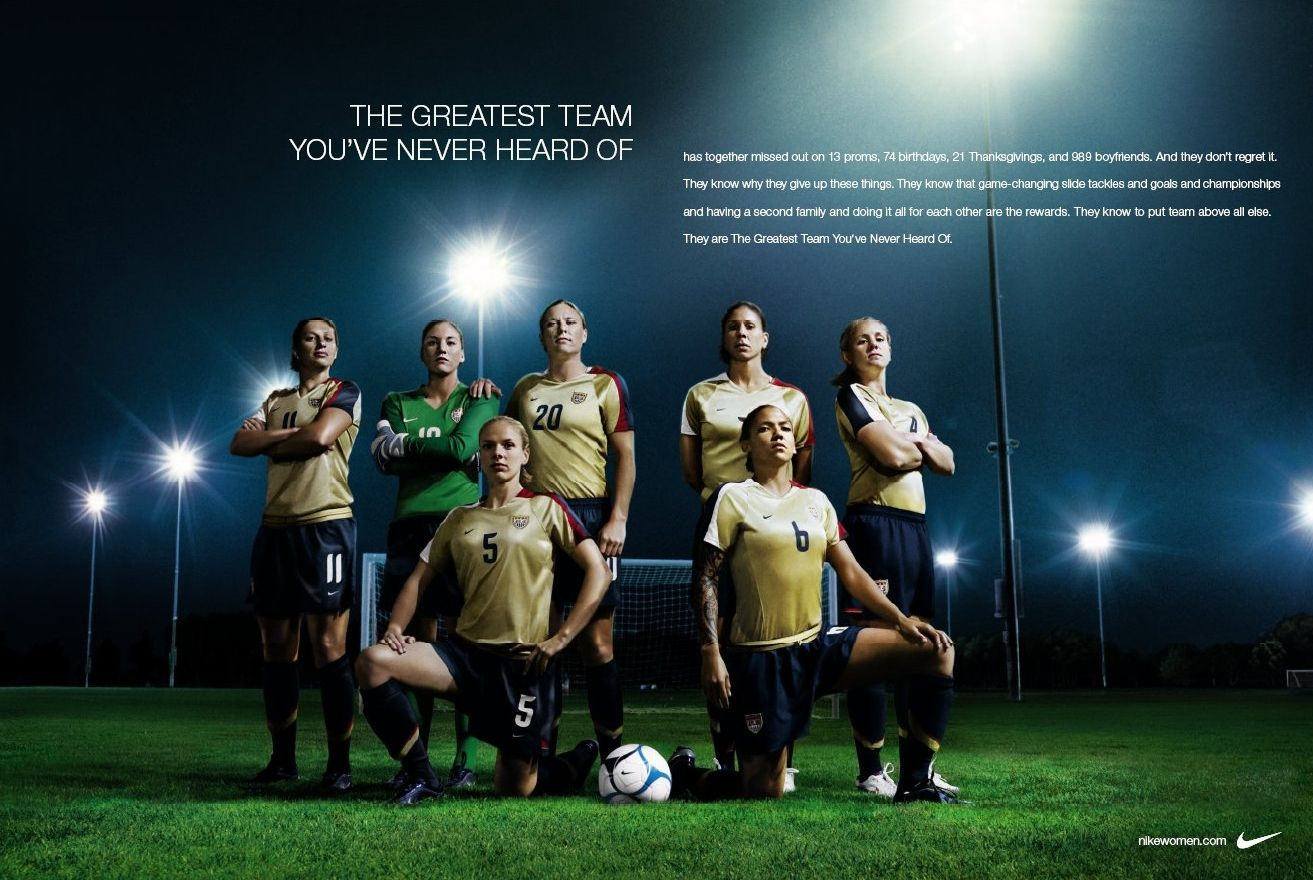 Nike s sponsorship of the U.S. womens soccer (football) team at the FIFA  Women s World Cup 2007 in China is celebrated in this print and outdoor  advertising ... 1fb2c642b03