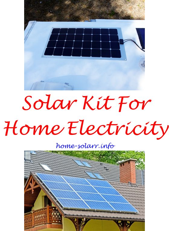 Solar power system for home use Solar panel and battery kit How do