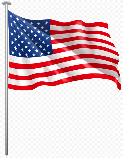 Hd Waving Flag Of United States On Pole Flag United States Transparent Background