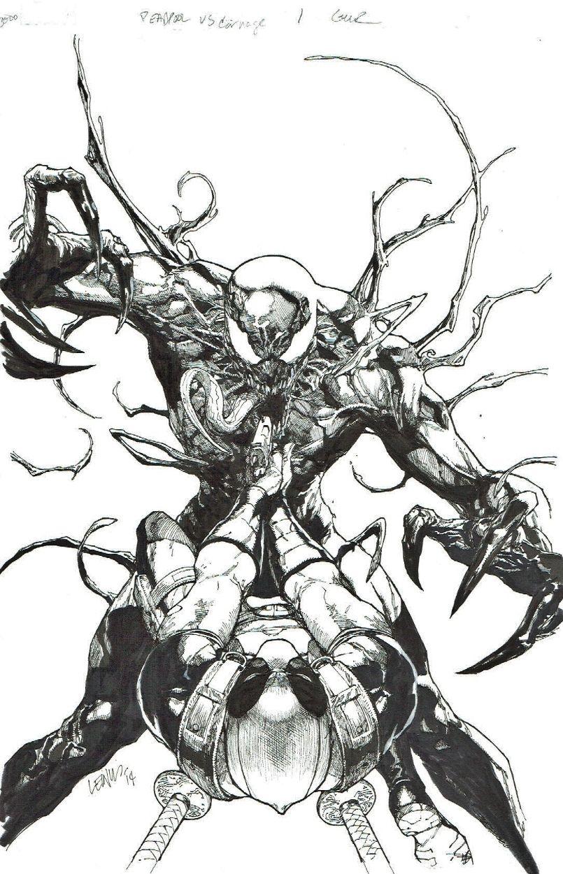 deadpool vs carnage leinil francis yu spider man pinterest