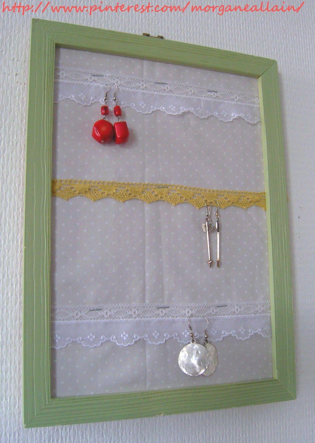 cadre porte bijoux   mes diy   pinterest   cadres, portes et creatif