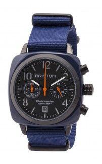 Clubmaster Classic Chronograph Navy military - Briston watches #briston