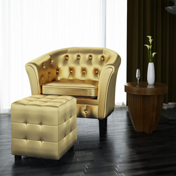 Home Single sofa chair, Living room upholstery, Leather