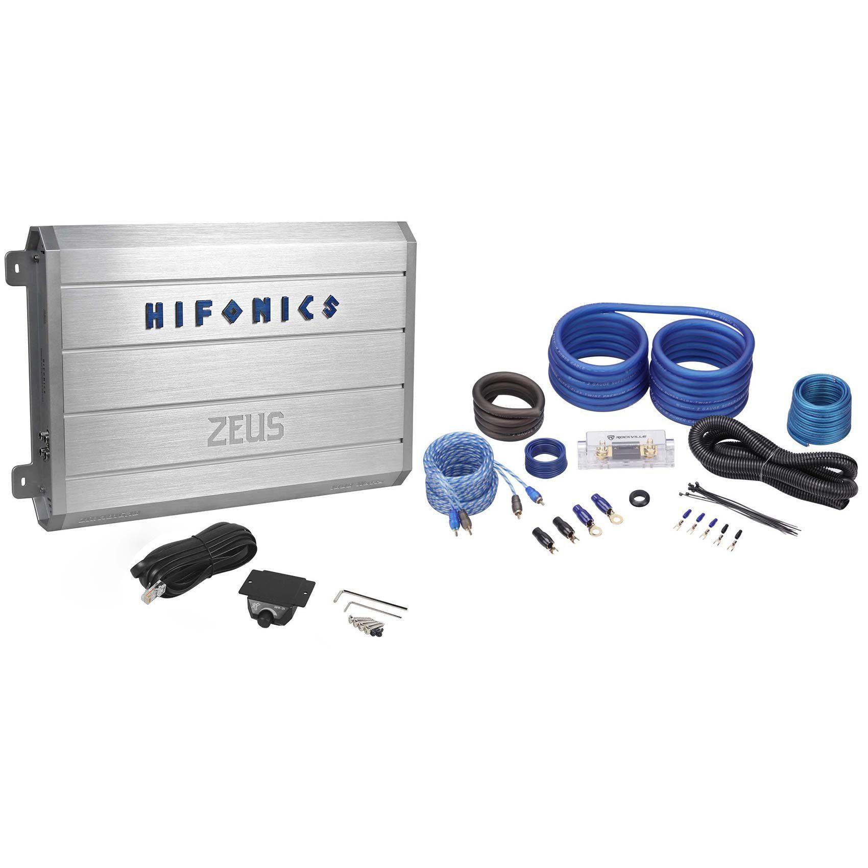 hifonics zrx1816 1d 1800 watt rms monoblock amp class d amplifier hifonics zrx1816 1d 1800 watt rms monoblock amp class d amplifier wiring kit