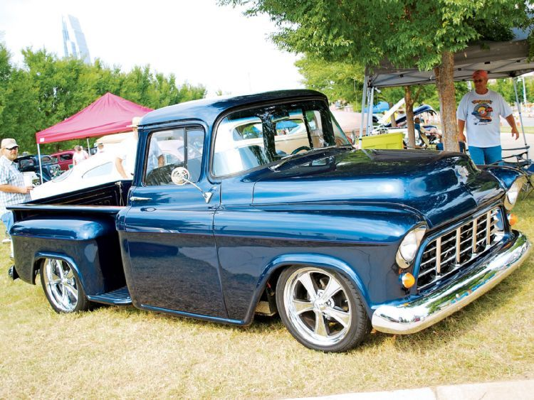 55 Chevy Truck Looks Just Like Mine But A Year Older And No Ghost