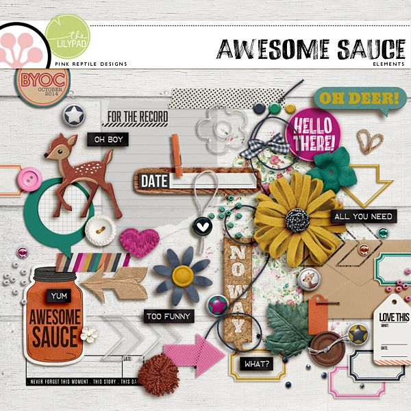 "Awesome Sauce | Elements by Pink Reptile Designs ""Oh Deer"" are these elements the cutest little bits & pieces ever! Part of the BYOC Oct Collection at The Lilypad."
