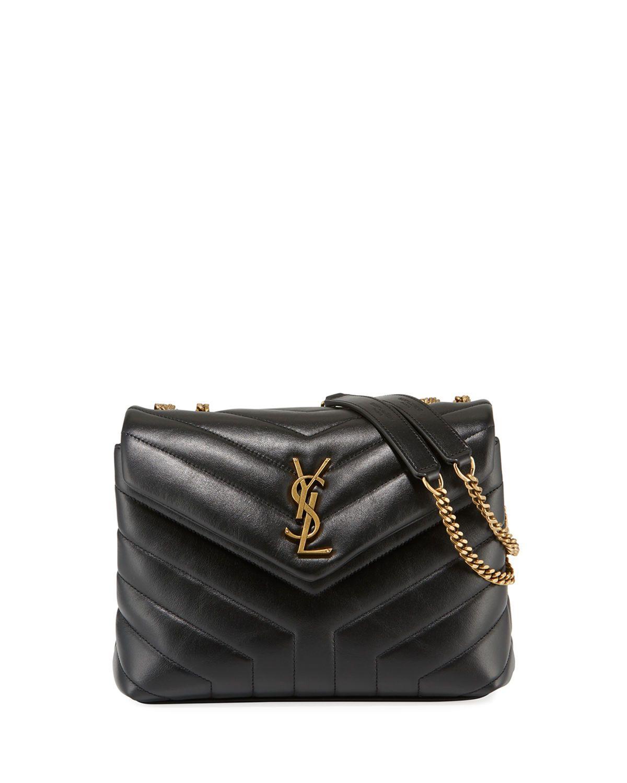 7e0089baf Loulou Monogram YSL Small V-Flap Chain Shoulder Bag - Lt. Bronze Hardware. Saint  Laurent ...
