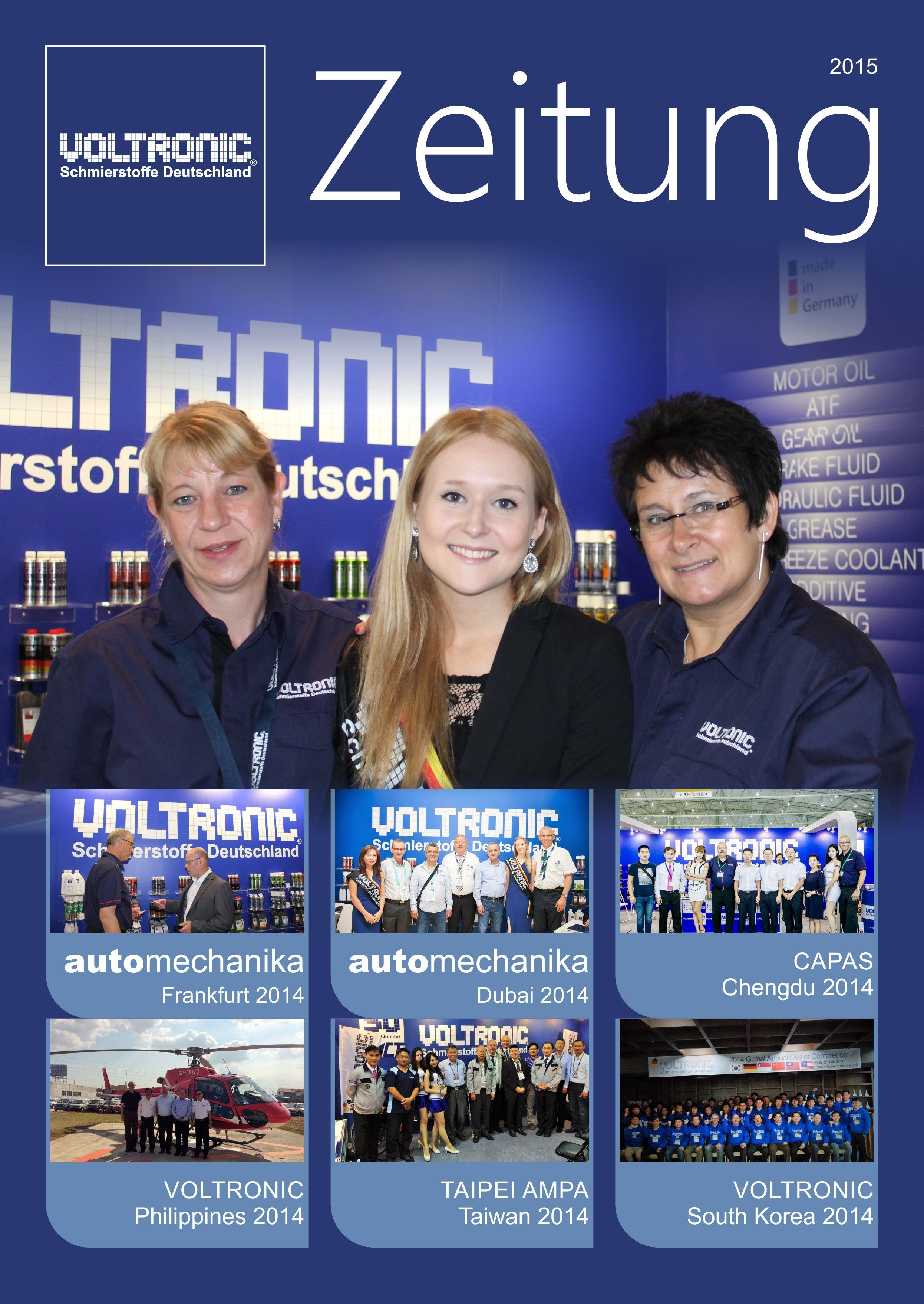 VOLTRONIC Germany Zeitung Magazine 2015 release first time during Automechanika Shanghai 2014.