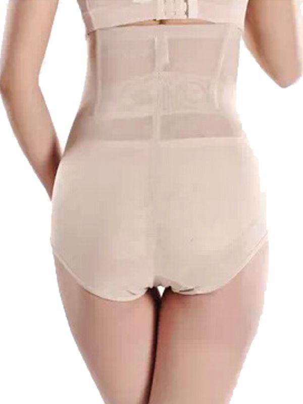 ba3a3ce84f Burvogue 4 Steel Boned Lace Sheer Body Shaper Underpants With Zip ...