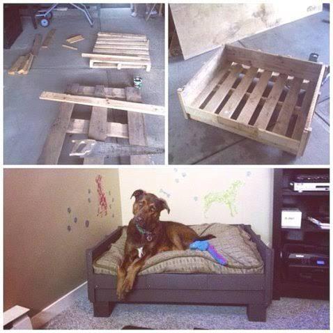 lits pour chien en palette bois r aliser soi m me lit pour chien en palettes lits pour. Black Bedroom Furniture Sets. Home Design Ideas